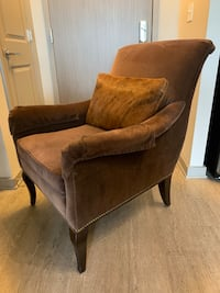 Crate and Barrel Brown Accent Chair Arlington, 22209