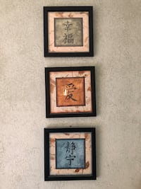 three black wooden framed wall decors Anchorage, 99518
