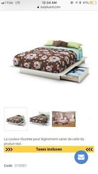white and brown floral bed sheet set Mont-Royal, H3P 1A5