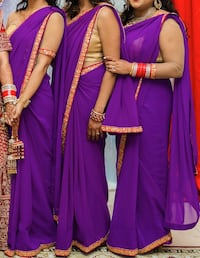 3 Bridesmaids Purple Saris Mississauga, L5G 4N6