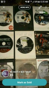 Games PS3/XBOX360/PS4 Nashville, 37221