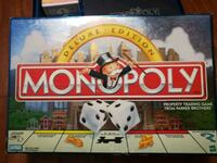 white and red Monopoly board game box Los Angeles, 90042