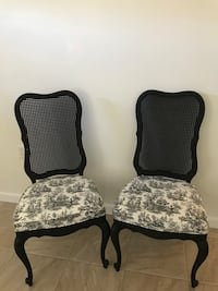 two black-and-white padded chairs Westerville, 43081