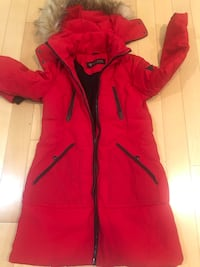 Guess winter/rainy jacket with a hoodie Small size