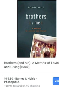 Brothers & Me by Donna Britt book Centreville, 20120
