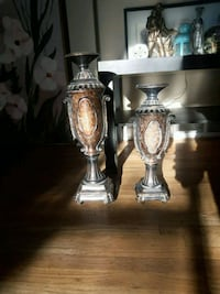 two silver-colored candle holders Calgary, T2M 4C7