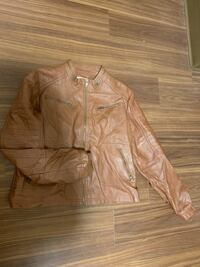 Women's Brown Leather Jacket Norman, 73019