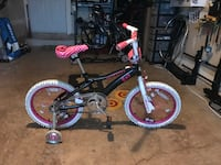 toddler's black and purple bicycle with training wheels Fairfax, 22030