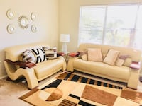 brown and white living room set Irving, 75063