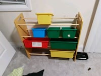 yellow and green plastic toy organizer Barrie, L4M 3B3