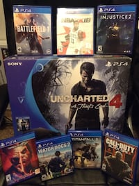 Sony ps4 uncharted 4 + 7 GAMES!! Gresham, 97030