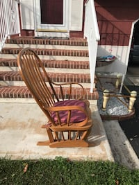 brown wooden windsor glider chair