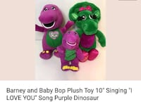 Barney and Baby Bop plush toys.  Humble, 77346