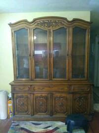 brown wooden china buffet hutch Woodbine, 31569