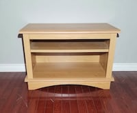 Light Brown Solid Wood Entertainment / TV Stand w/ Adjustable Shelf West Linn, 97068
