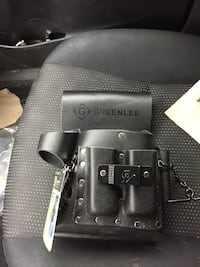 Greenlee leather pouch and leather belt