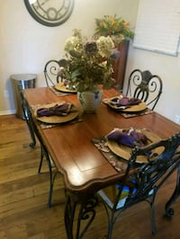 brown wooden dining table set 774 mi