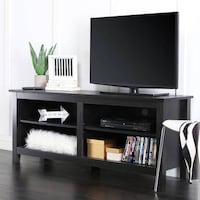 "Wood TV Stand for TVs up to 60"", SKU# 40-658-2F2 Tustin"
