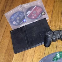 Black sony ps2  slim console with controllers Hampton, 23666