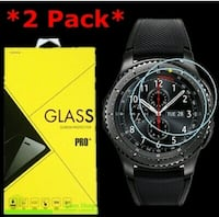 2-Pack Tempered Glass Screen Protector For Samsung Gear S3 Frontier Sm
