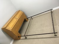 brown wooden bed frame with white mattress Abbotsford, V2S 1H1