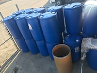 Food Grade 208L  Blue Plastic Drums Sunflower Oil was in stored in the Brampton, L6R 3R9
