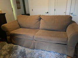 Couch ottoman and Oversized chair