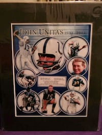 Johnny Unitas print  Baltimore, 21206