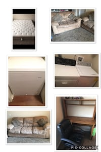 Washer, dryer, freezer, sofa, loveseat, king mattress, table and chair  Fairborn, 45324