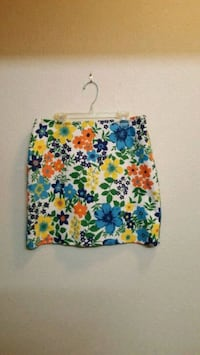 Tommy Hilfiger Bright Floral Mini Skirt, Fully Lined - Size 6