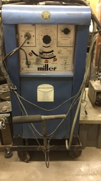Miller welder model 330A/BP-LA AC-DC INERT GAS WELDER Plus coolant pump and coolant box