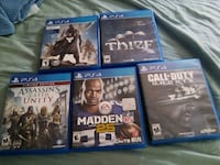 five Sony PS4 games with cases Wood Dale, 60191