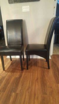 2 parsons leather dining chairs Mission, V2V