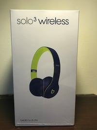 Beats Solo3 Pop Collection Indigo - Brand New Sealed in Box - Apple Store $299 Central, 29630