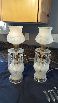 Vintage Crystal Table Lamps Occoquan