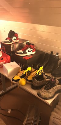 pair of black-and-yellow Nike basketball shoes Portland, 97202