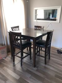 rectangular brown wooden table with four chairs dining set Spokane, 99205
