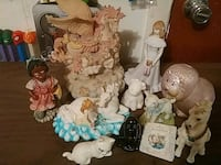 Several figurines and Banks 586 mi