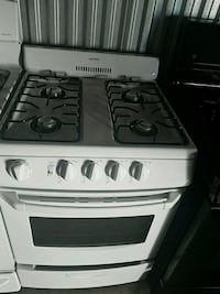 white  gas range oven with 20 inches