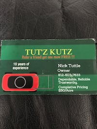 TUT'Z KUTZ Lawn mowing and landscape