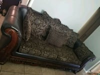 brown and black floral fabric 2-seat sofa Los Angeles, 90016