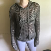 Olive Green knit top size Small