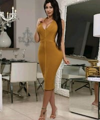 Beautiful bandage dress in the Deep yellow