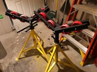 2 Roller pipe stands $50 each