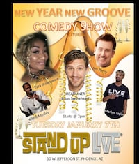 Free Tickets To Standup Live January 7 @ 8pm