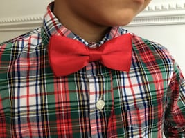 Adjustable Men's and boys Red bow tie