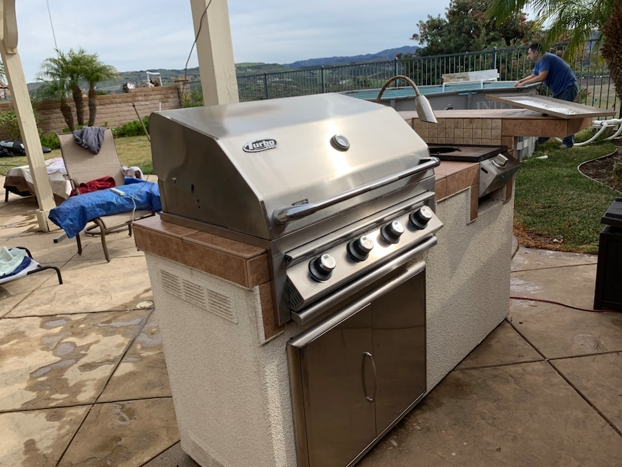 used bbq galore island with bbq and side burner for sale in rh us letgo com