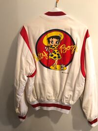 white and red Mickey Mouse print sweater New York, 10029