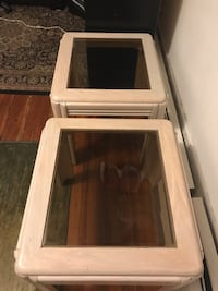 Two  glass  end table Fitchburg, 01420