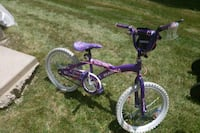 toddler's purple and white bicycle Crystal Lake, 60014